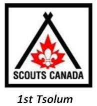 SCOUTS CANADA – 1ST TSOLUM Organization