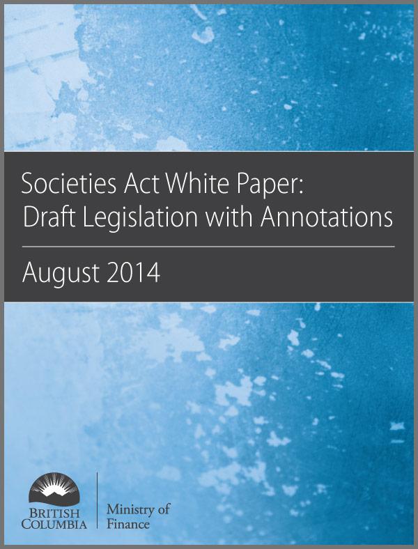 Societies Act White Paper: